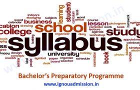 IGNOU BPP Syllabus & Courses