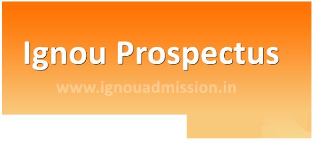 Download Ignou Prospectus