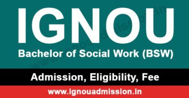 IGNOU BSW Admission