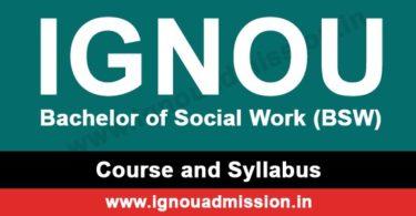 IGNOU BSW Syllabus & Courses