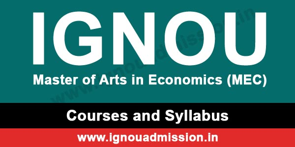 IGNOU MA Economics Syllabus