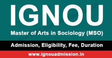 ignou ma sociology admission