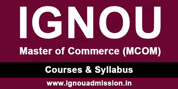 ignou mcom syllabus & courses