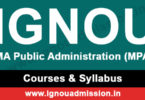 IGNOU MA Public Administration Courses