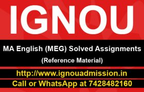 IGNOU MA English Solved Assignment