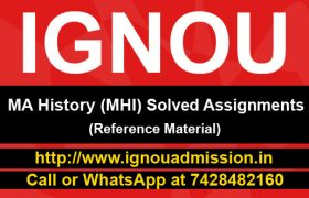 IGNOU MA History Solved Assingments