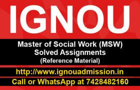 IGNOU MSW Solved Assignments