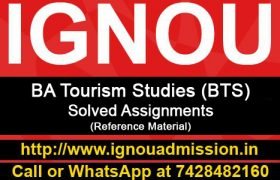 ignou bts solved assignment