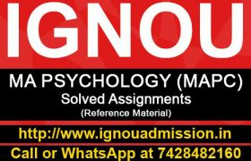 IGNOU MA Psychology Solved Assignment (MAPC)