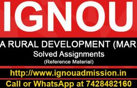 IGNOU MA Rural Development Solved Assignment (MARD)