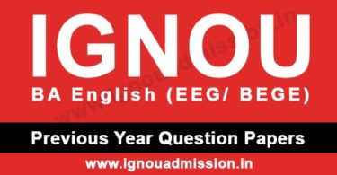 IGNOU BA English Question Papers
