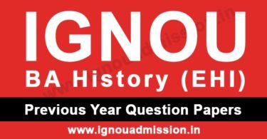 IGNOU BA History Question Papers