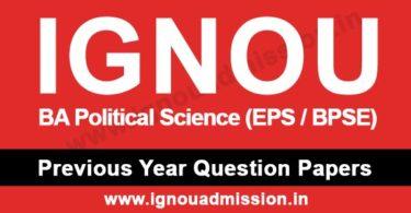 IGNOU BA Political Science Question Paper