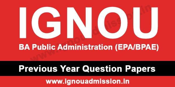 IGNOU BA Public Administration Question Paper