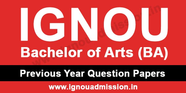 IGNOU BA Question Paper