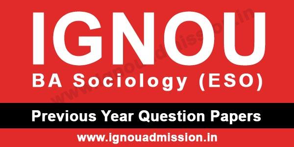 IGNOU BA Sociology Question Paper
