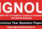 IGNOU BSHF 101 Question Paper