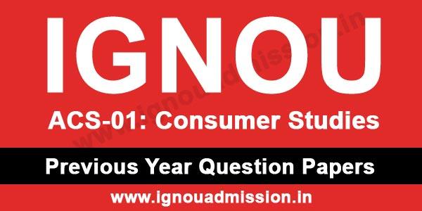 IGNOU ACS 1 Question Paper