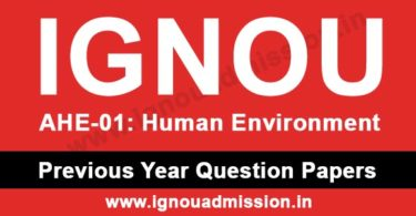 IGNOU AHE 1 Question Paper