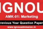 IGNOU AMK 1 Question Paper