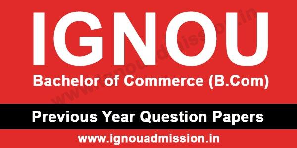 IGNOU BCOM Question Paper
