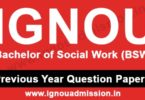 IGNOU BSW Question Paper