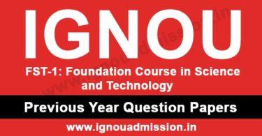 IGNOU FST 1 Question Paper