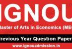 IGNOU MA Economics Question Paper