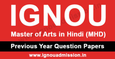 IGNOU MA Hindi Question Paper