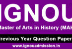 IGNOU MA History Question Paper