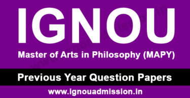 IGNOU MA Philosophy Question Paper