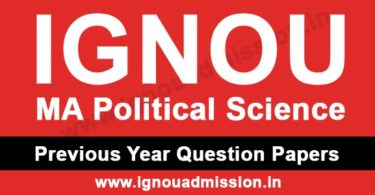 IGNOU MA Political Science Question Paper