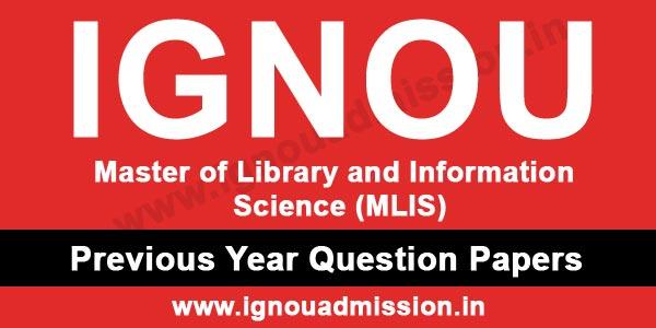 IGNOU MLIS Question Paper