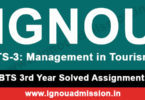 IGNOU TS 3 Solved Assignment