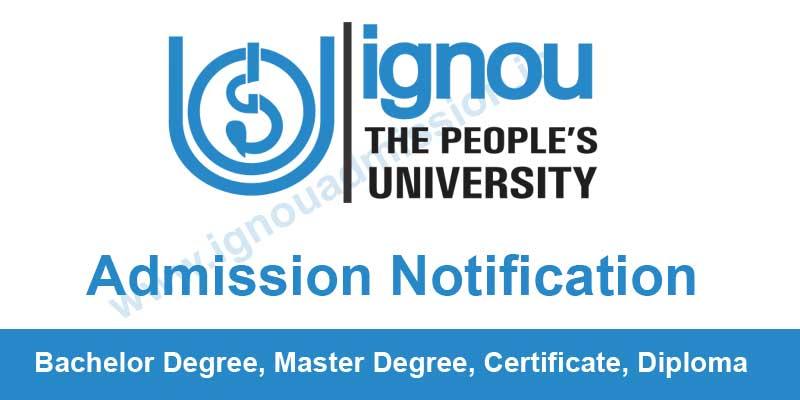 Ignou Admission Notification