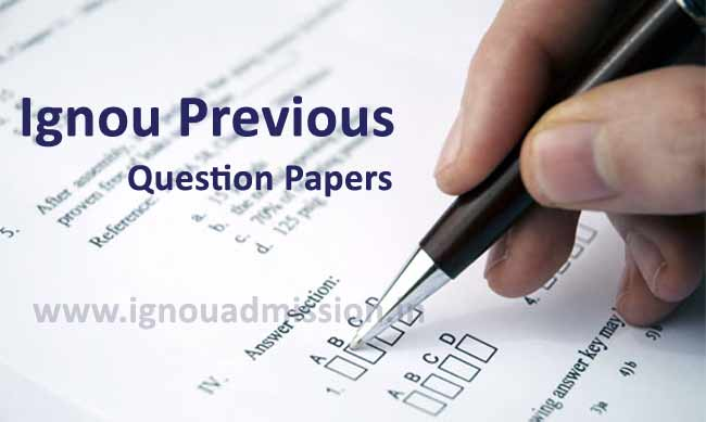 Download Ignou previous Year Question papers