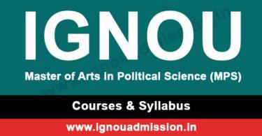 IGNOU MA Political Science Syllabus