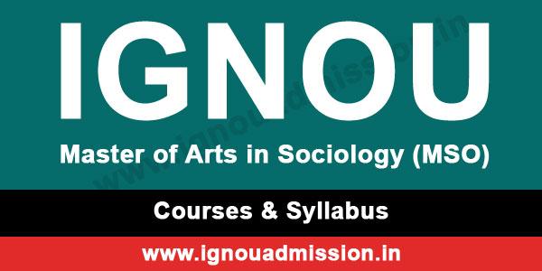 ignou ma sociology courses & syllabus