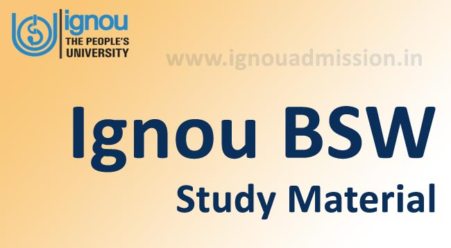 Download Ignou BSW Study Material