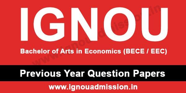 IGNOU BA Economics Question Paper