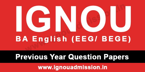 IGNOU BA English Question Papers - IGNOU Admission