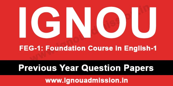 IGNOU FEG 1 Question Paper of Previous Years