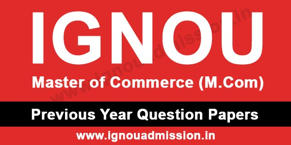 IGNOU MCOM Question Papers