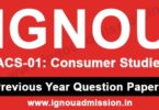 IGNOU ACS 1 Question Paper