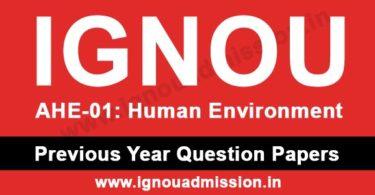 IGNOU AHE 1 Question Paper