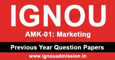 IGNOU AMK 1 Question Paper