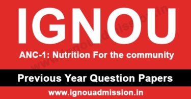 IGNOU ANC 1 Question Paper