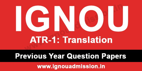 IGNOU ATR 1 Question Paper