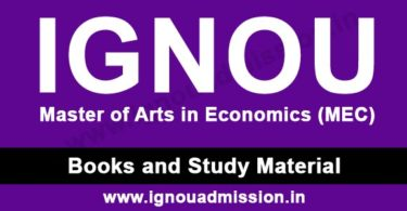 IGNOU MA Economics Study Material Free Download
