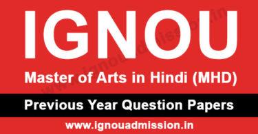 IGNOU MA Hindi Question Paper